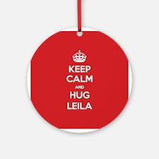 Hug Leila Ornament (Round)