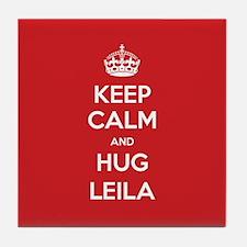 Hug Leila Tile Coaster