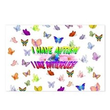 I have autism like butterflies.jpg Postcards (Pack
