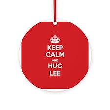 Hug Lee Ornament (Round)