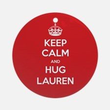 Hug Lauren Ornament (Round)