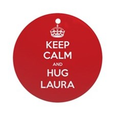 Hug Laura Ornament (Round)