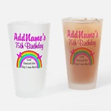 75TH RAINBOW Drinking Glass