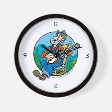 Wall Clock: Banjo Man