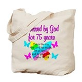 75 birthday Canvas Bags