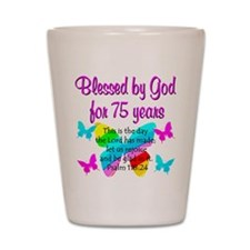 75 YR OLD ANGEL Shot Glass