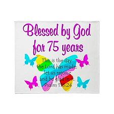 75 YR OLD ANGEL Throw Blanket