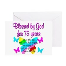 75 YR OLD ANGEL Greeting Cards (Pk of 10)