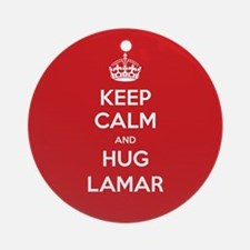 Hug Lamar Ornament (Round)