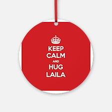 Hug Laila Ornament (Round)