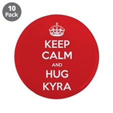 "Hug Kyra 3.5"" Button (10 pack)"