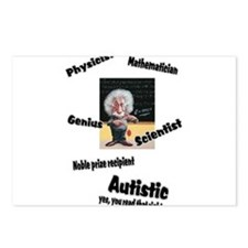 2-al autism.png Postcards (Package of 8)