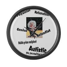 2-al autism.png Large Wall Clock