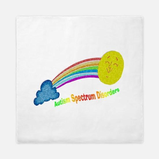 ASD puzzle rainbow.png Queen Duvet