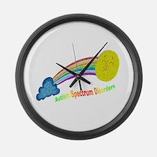 Asd Puzzle Rainbow.png Large Wall Clock