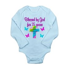75TH LOVE GOD Long Sleeve Infant Bodysuit
