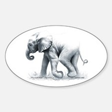 Baby Elephant Oval Decal