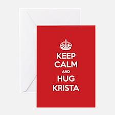 Hug Krista Greeting Cards