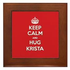 Hug Krista Framed Tile