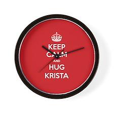 Hug Krista Wall Clock
