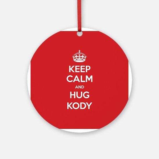 Hug Kody Ornament (Round)