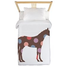 Colorful Horse Pattern Twin Duvet
