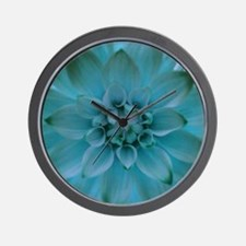 Dahlia in Turquoise Wall Clock