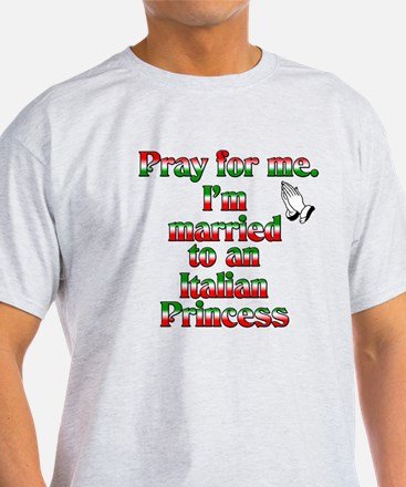 Pray for me. I'm married to a T-Shirt