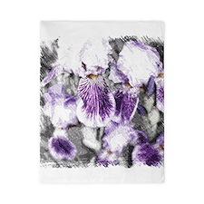 Sketchy Irises Twin Duvet