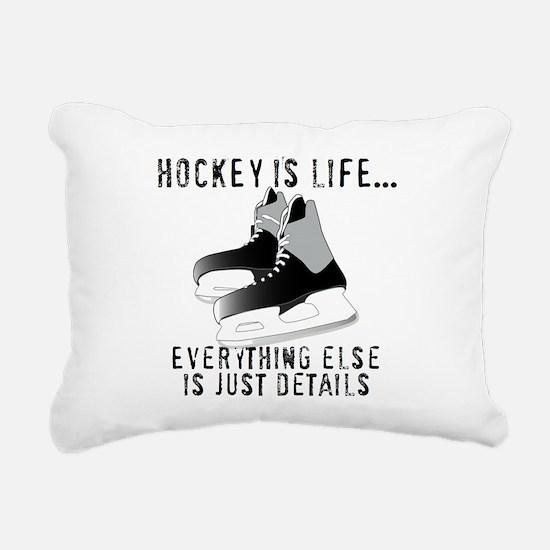 Ice Hockey is Life Rectangular Canvas Pillow