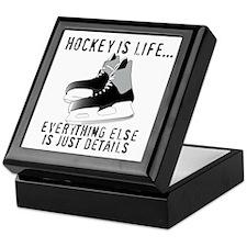 Ice Hockey is Life Keepsake Box