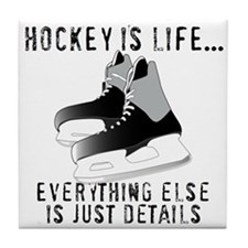 Ice Hockey is Life Tile Coaster