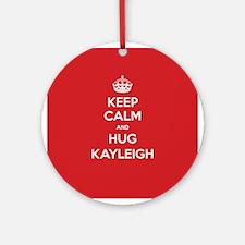 Hug Kayleigh Ornament (Round)