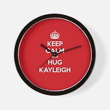 Hug Kayleigh Wall Clock
