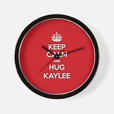 Hug Kaylee Wall Clock