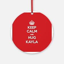 Hug Kayla Ornament (Round)