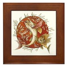 Vintage Japanese Fish Framed Tile