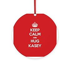 Hug Kasey Ornament (Round)