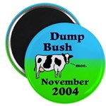 Dump Bush Moo Cow Magnet