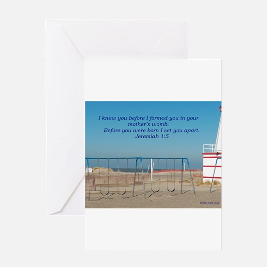 God knew/knows you Greeting Card