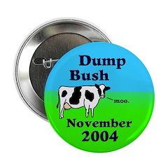 Dump Bush Moo Cow Button (10 pack)