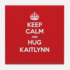 Hug Kaitlynn Tile Coaster