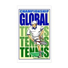 Tennis Global Rectangle Decal