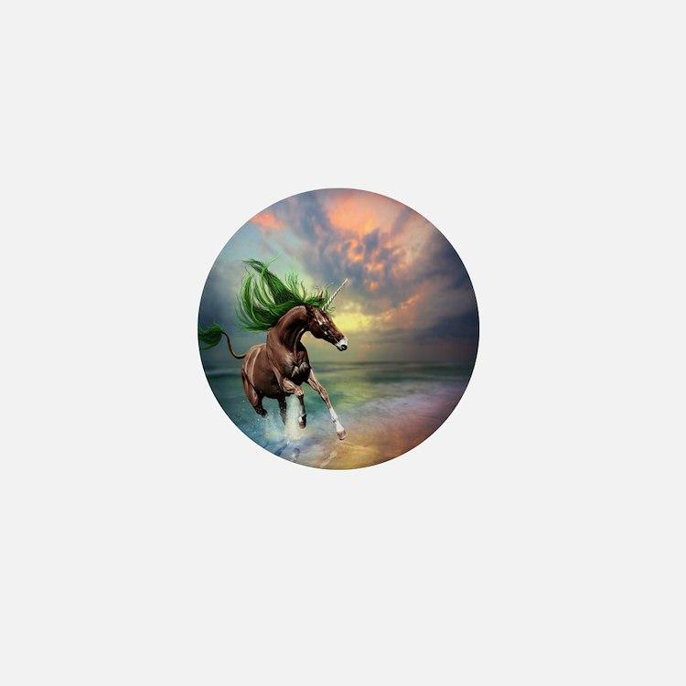 Unicorn Stallion Mini Button