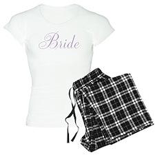 Elegant Script Bride {laven Pajamas