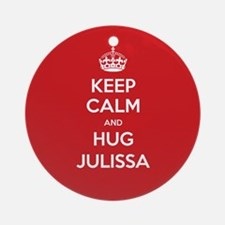 Hug Julissa Ornament (Round)