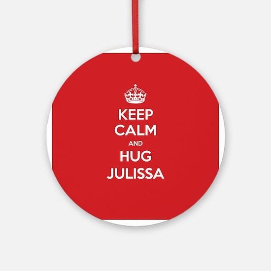 Hug Julissa Ornament (Round)