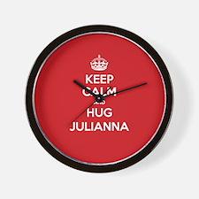 Hug Julianna Wall Clock