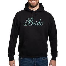 Elegant Script Bride {aqua} Hoodie
