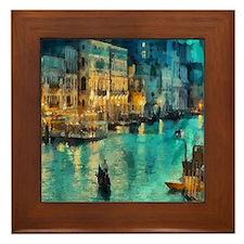 Venice Painting Framed Tile